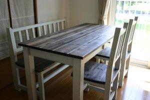 画像1: ダイニングテーブル1500エボニー